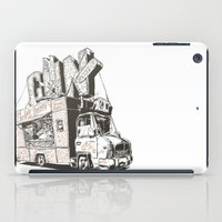truck iPad Cases featuring Shopping Truck by Mitt Roshin