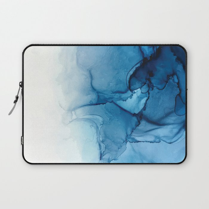 Blue Tides - Alcohol Ink Painting Laptop Sleeve