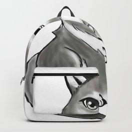 Chibi gray wolf Backpack
