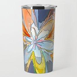 Gold Flower Abstract Travel Mug