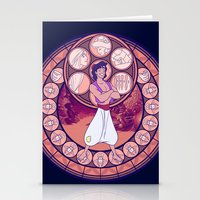 aladdin Stationery Cards featuring Aladdin by NicoleGrahamART
