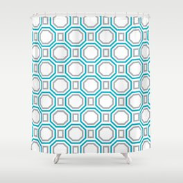 Blue Harmony II Symmetry Shower Curtain