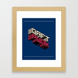 Daft Punk Inspirational Quote Wall Decor Typography Print Motivational Poster Framed Art Print