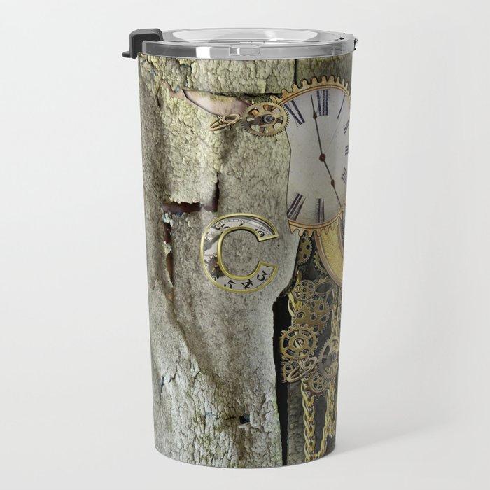 Steampunk letter C Travel Mug