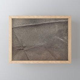 Crumpled Sandpaper Texture Framed Mini Art Print