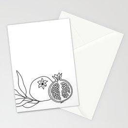 Pomegranate line art Stationery Cards