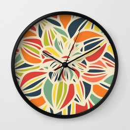 Vintage flower close up Wall Clock