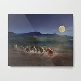 Moonlight Run Metal Print