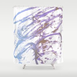 blue ecstacy Shower Curtain