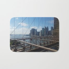 Brooklyn Bridge View on Manhatta Bath Mat