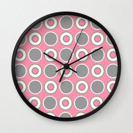Baker Miller Pink Polka Dot Wall Clock