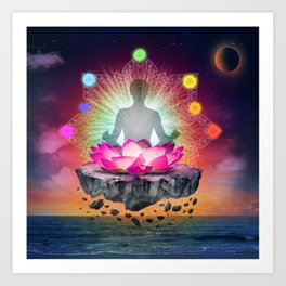 yoga time Art Print