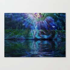 Beneath true light the magic shows and sighs quite softly as it grows Canvas Print