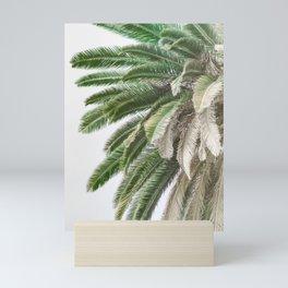Nature photography tropical vintage palm leaf I Mini Art Print