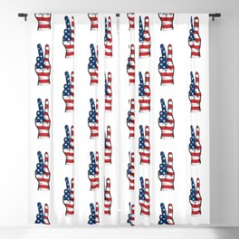 USA Peace Sign Blackout Curtain