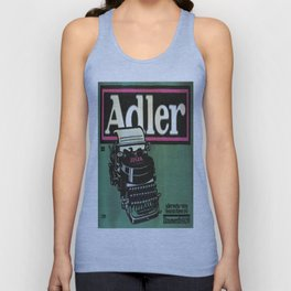 Vintage poster - Adler Typewriters Unisex Tank Top