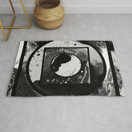 Abstract Geometric Studies In Black And White Rug