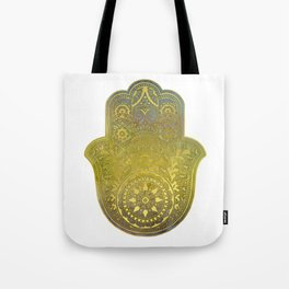 Colorful Watercolor And Gold Hamsa Hand - II Tote Bag