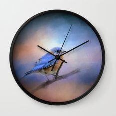 The Happiest Blue - Bluebird Wall Clock