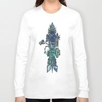 spaceship Long Sleeve T-shirts featuring Spaceship  by Joseph Kennelty