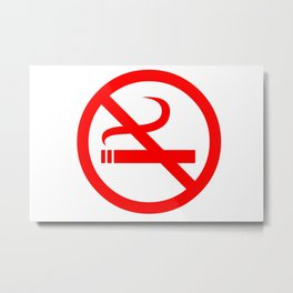 no smoking sign Metal Print