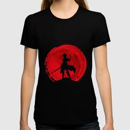 Red Eren yeager T-shirt