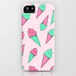 Pastel Ice Cream Cones iPhone Case