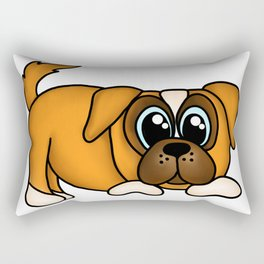 Boxer Puppy Rectangular Pillow