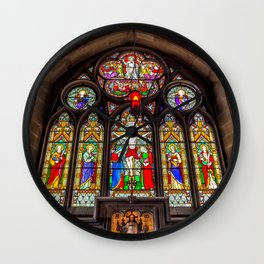 Ancient Stained Glass Wall Clock