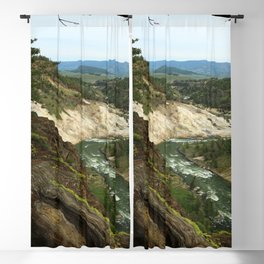 Yellowstone River View Blackout Curtain