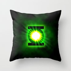 Green Lantern Power Of The Ring Throw Pillow