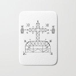 Baron Samedi Voodoo Veve Symbol Bath Mat