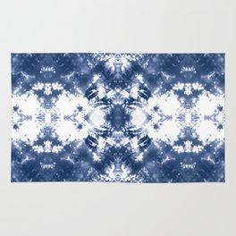 Shibori Tie Dye 4 Indigo Blue Rug