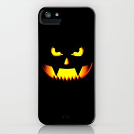 Scary Halloween Pumpkin design Gift For Halloween Party iPhone Case