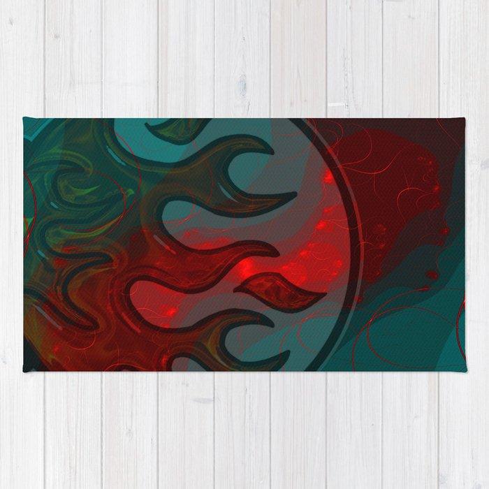 Embers Abstract Art Rug