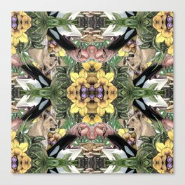 Wildlife Kaleidoscope Canvas Print