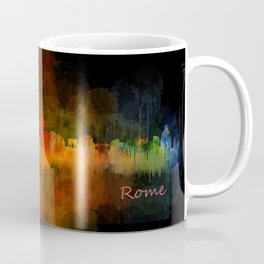 Rome city skyline HQ v04 Dark Coffee Mug