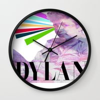 dylan Wall Clocks featuring Dylan by Coyvan