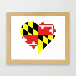 Maryland Flag Heart II Framed Art Print