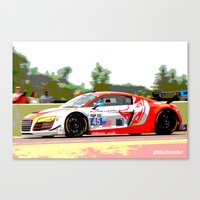 audi Canvas Prints featuring Flying Lizard Audi R8 | Road America by Phil Schroeder Design