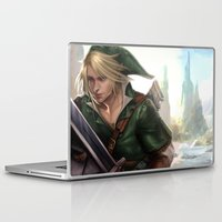 hyrule Laptop & iPad Skins featuring Link: Hyrule Warrior by KlsteeleArt