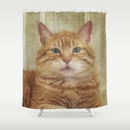 Cattitude Is Everything. Shower Curtain