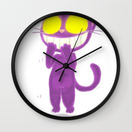 GhostKat EXCITED Wall Clock