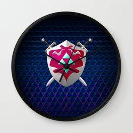 legend of zelda shield Wall Clock