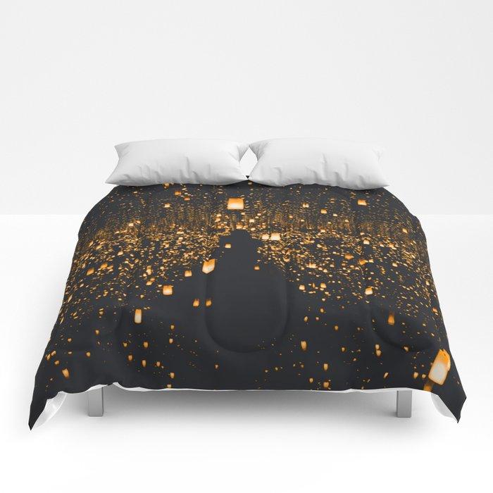 Golden Lights (Color) Comforters