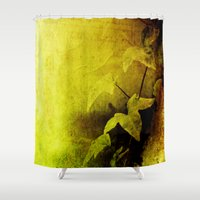 secret life Shower Curtains featuring Secret Ivy by Donna M Condida