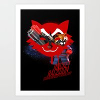 rocket raccoon Art Prints featuring Rocket Raccoon by Markusian