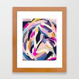 inner space flowers Framed Art Print