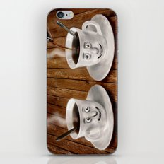 Hot Coffee Time in the Kitchen iPhone & iPod Skin