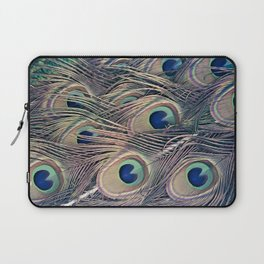 Beautiful Painted Peacock Feathers Laptop Sleeve